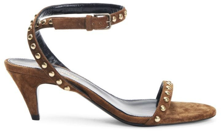 Kiki Studded Suede Ankle-Strap Sandals