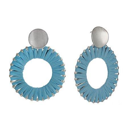 Bijoux Bar Raffia Round Drop Earrings - JCPenney