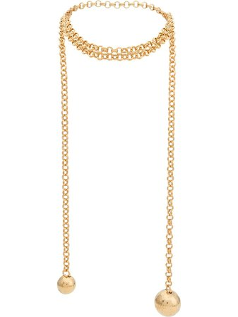 Bottega Veneta Geometric Pendants Necklace | Farfetch.com