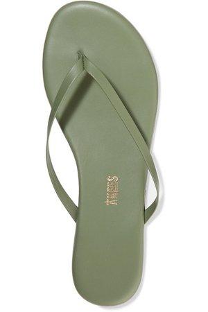TKEES | Solids leather flip flops | NET-A-PORTER.COM