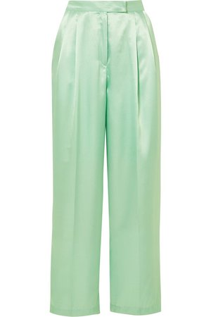 Frankie Shop | Pantalon large en satin Karen | NET-A-PORTER.COM