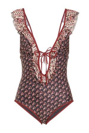 Jaya Frill Tie Front Swimsuit Gr. 2