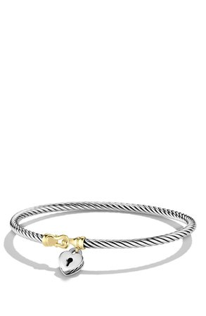 'Cable Collectibles' Heart Lock Bracelet with Gold   Nordstrom