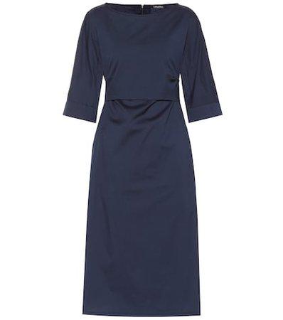 Primo cotton-blend midi dress