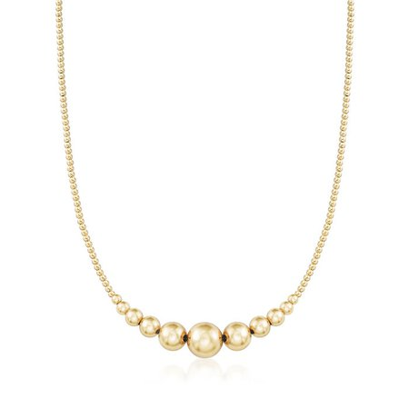 2-10mm 14kt Yellow Gold Graduated Bead Necklace | Ross-Simons