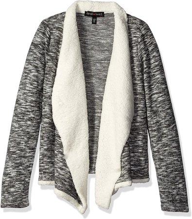 grey sherpa lined cardigan