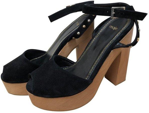Black Velvet Sandals