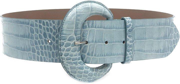 Maura Croc Embossed Leather Belt