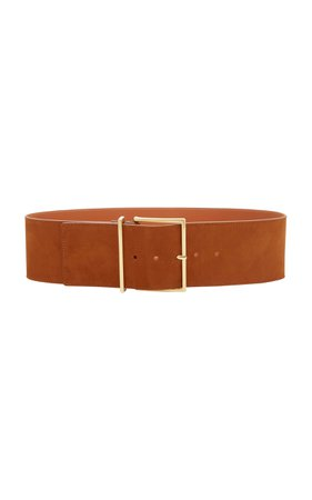 Maison Boinet Exclusive Wide Nubuck Leather Waist Belt