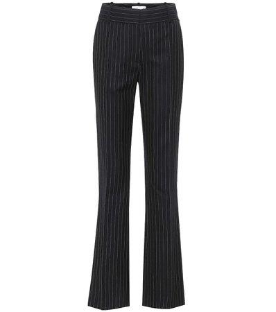 Victoria Beckham - Pinstriped wool straight pants | Mytheresa