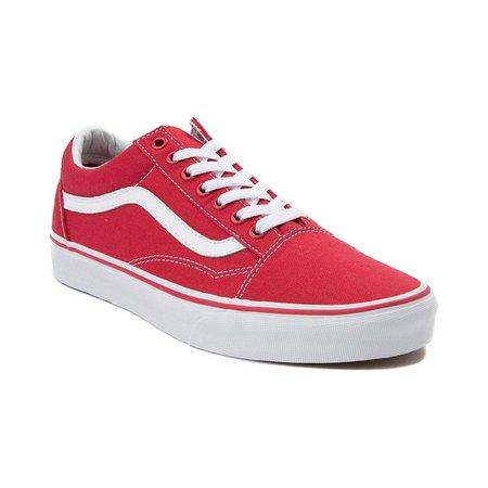 Vans Old Skool Skate Shoe - red - 497174
