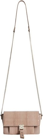 Aubrey Genuine Snakeskin & Leather Crossbody Bag