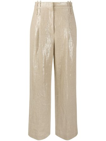 Brunello Cucinelli wide-leg tailored trousers