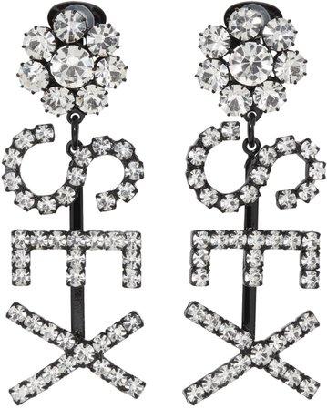 Ashley Williams Black 'Sex' Earrings