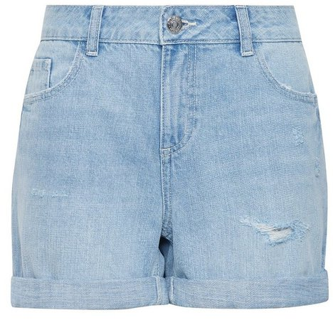 Blue Lightwash Organic Cotton Boy Denim Shorts