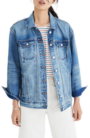 Madewell Oversize Denim Jacket | Nordstrom
