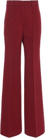 High-Waisted Virgin Wool Wide-Leg Pants