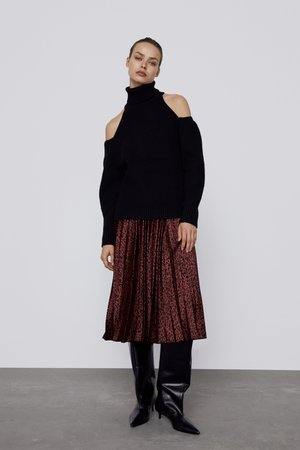PRINTED PLEATED SKIRT | ZARA United Kingdom