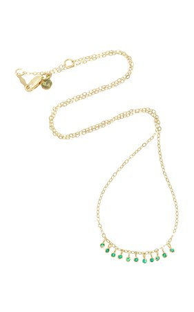 ILA Daniel 14K Gold Emerald Necklace