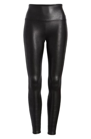 SPANX® Faux Leather Leggings (Petite) | Nordstrom