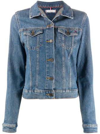 Tommy Hilfiger Embroidered Logo Denim Jacket - Farfetch
