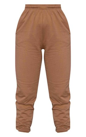 Chocolate Brown Casual Joggers | Trousers | PrettyLittleThing USA