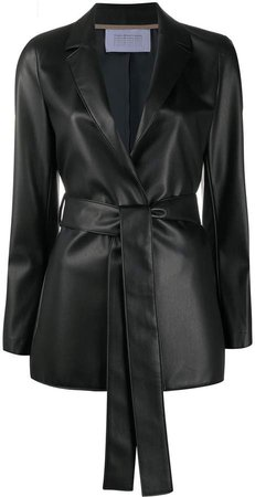 belted notch lapel coat