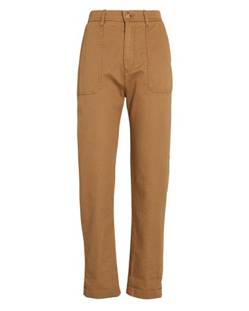 XíRENA Tucket Cotton Twill Straight-Leg Pants   INTERMIX®