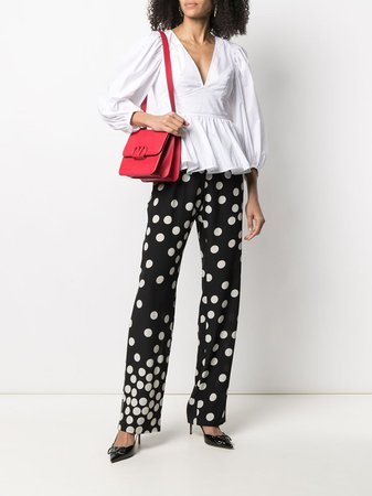 Valentino polka-dot straight-leg Trousers - Farfetch