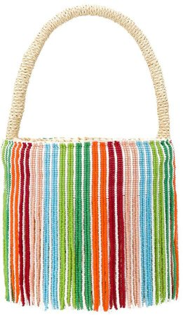 Studio rainbow beaded bag
