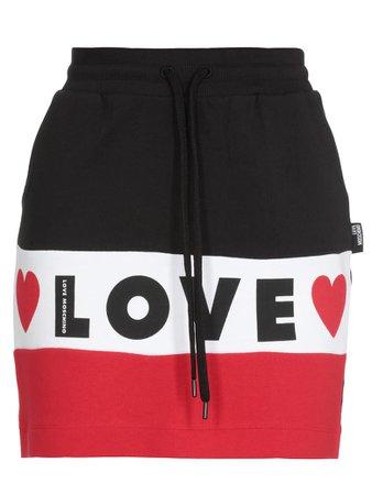 Love Moschino Love Moschino Love Mini Skirt - BLACK/WHITE/RED - 11148659 | italist