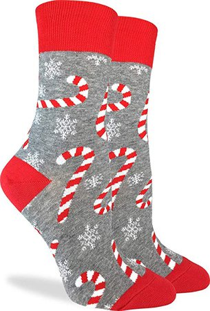 Good Luck Sock Women's Candy Canes Socks - Grey, Adult Shoe Size 5-9: Amazon.ca: Clothing & Accessories