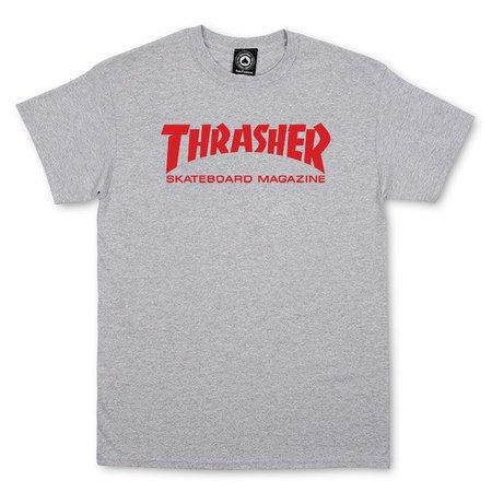 Thrasher Magazine Shop - Thrasher Skate Mag T-Shirt (Gray/Red)
