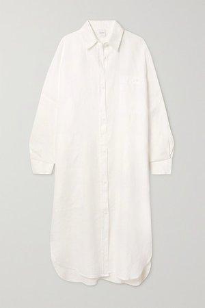 Leisure Procida Linen Shirt Dress - White