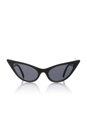 Adam Selman X Le Specs The Prowler Acetate Cat-Eye Sunglasses