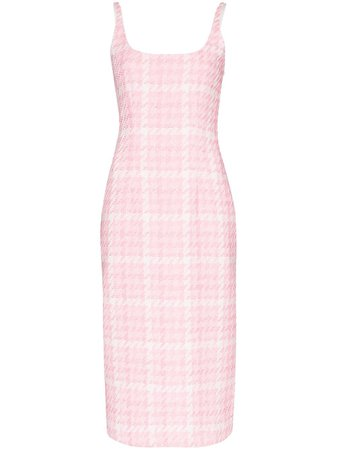 Alessandra Rich | houndstooth tweed midi dress