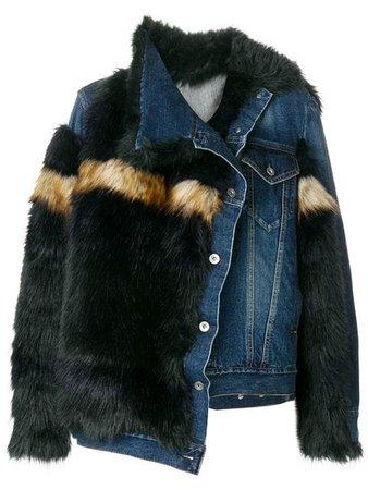 Sacai Contrast Oversized Jacket - Farfetch