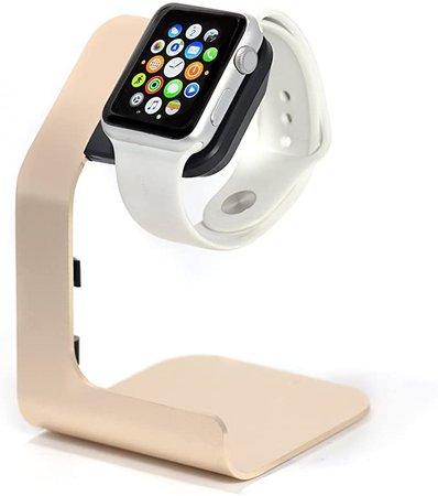 Amazon.com: Apple Watch Stand-Tranesca Apple Watch Charging Stand for Series 4 / Series 3 / Series 2 / Series 1; 38mm/40mm/42mm/44mm Apple Watch- Gold
