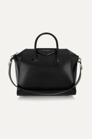 Black Antigona medium leather tote   Givenchy   NET-A-PORTER