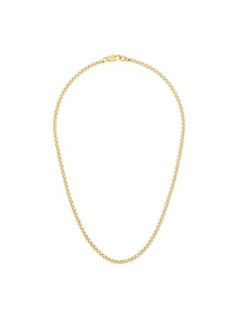 Shop gold Laura Lombardi 14kt gold-plated box chain necklace with Express Delivery - Farfetch