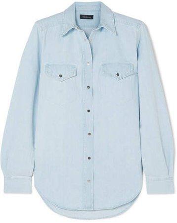 The Slim Straight Denim Shirt - Light denim