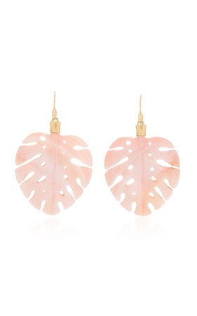 Annette Ferdinandsen Mother of Pearl Palm Leaf Earring