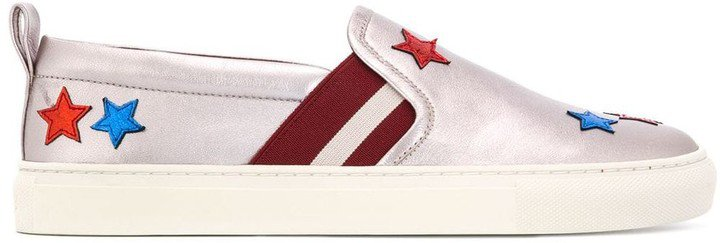 Star Patch Slip-On Sneakers