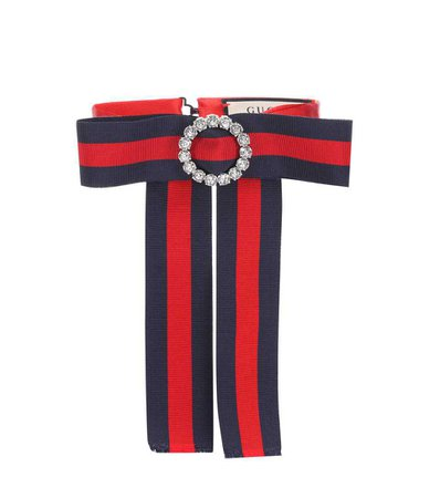 Striped Neck Bow - Gucci | mytheresa.com