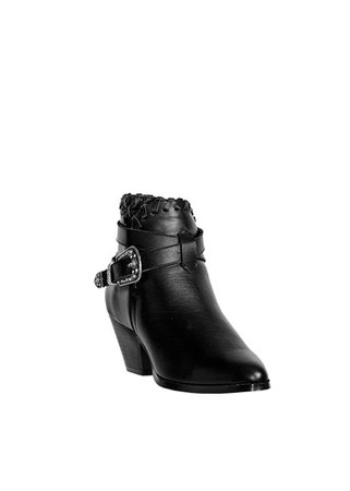 black leather buckle ankle boots - Google Search