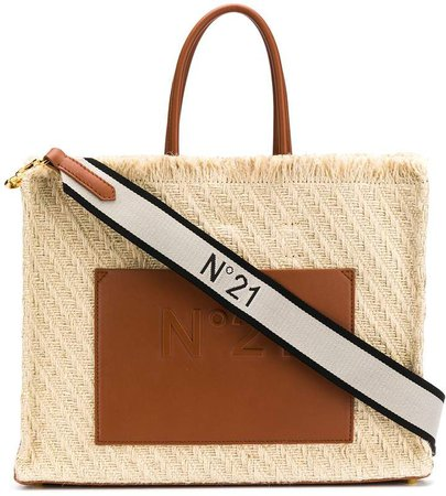 woven effect tote bag