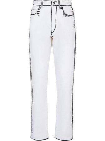 Fendi x Joshua Vides straight-leg Jeans - Farfetch