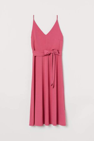 Creped Dress - Pink