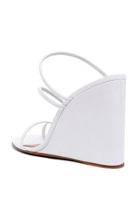 Naima Wedge Sandals By Amina Muaddi | Moda Operandi