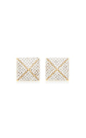 Valentino Garavani Swarovski Crystal Earrings By Valentino | Moda Operandi